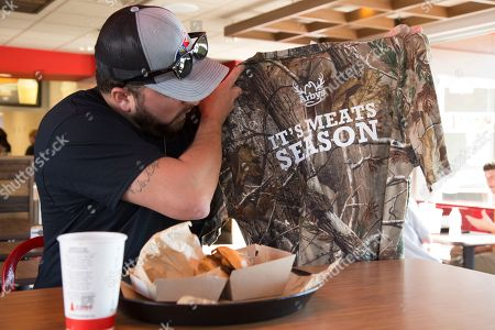 Country music star Tyler Farr celebrates Arby's It's Meats Season hunting campaign at Arby's in Nashville, Tenn. on