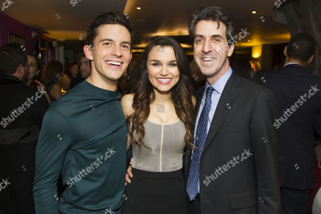 Jonathan Bailey (Jamie), Samantha Barks (Cathy) and Jason Robert Brown (Author/Music/Director)
