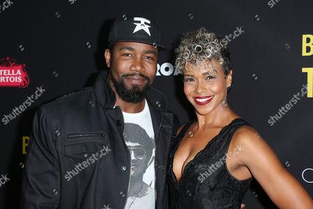 Stock Photo of Micheal Jai White and Gillian White