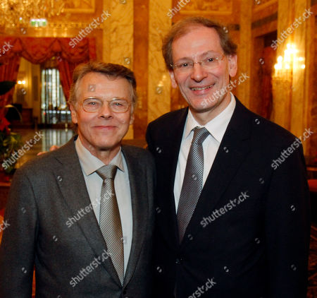 Mariss Jansons, Clemens Hellsberg Latvian conductor Mariss Jansons and Clemens Hellsberg, from left, head of the Vienna Philharmonic orchestra pose before a news conference in Vienna, Austria, on . Mariss Jansons will be the conductor of the Vienna Philharmonic orchestra in the traditional New Year's concert on Jan. 1, 2012 at Musikverein in Vienna