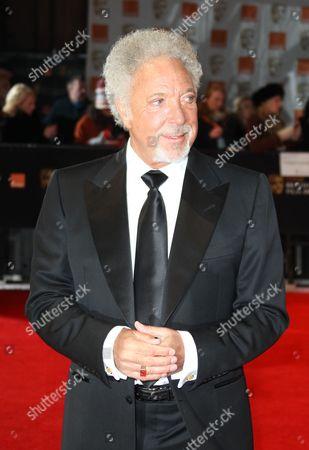 Musician Ton Jones arrives for the BAFTA Film Awards 2012, at The Royal Opera House in London