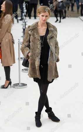 Jaquetta Wheeler Jaquetta Wheeler arrives for the Burberry Prorsum fashion show at a central London venue