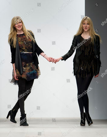 Daniela Felder, Annette Felder British designers, Daniela Felder and Annette Felder during a fashion show at London Fashion Week