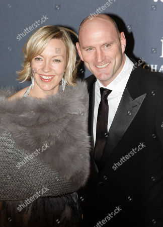 Stock Picture of Former rugby player Lawrence Dallaglio arrives with his wife Alice for the Laureus World Sports Awards in London