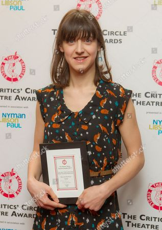 Blanche McIntyre Blanche McIntyre holds the Jack Tinker Award For Most Promising Newcomer during the London Critics' Circle Theatre Awards at the Prince of Wales Theatre in central London