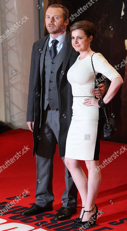 Simon Pegg, Maureen McCann British actor Simon Pegg and wife Maureen McCann arrive on the red carpet for the UK Premiere of Mission: Impossible Ghost Protocol, at a central London cinema