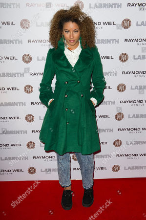 Stock Image of Mz Bratt Mz Bratt arrives for the Pre-Brit Awards Dinner at a London venue