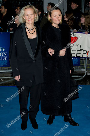 Phyllida Lloyd, Sarah Cooke Phyllida Lloyd and Sarah Cooke arrive for the European premiere of The Iron Lady, at a central London venue