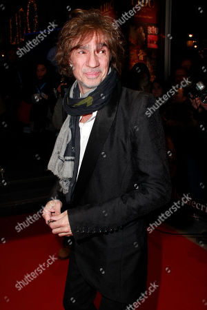 French singer Louis Bertignac arrives to the Globe de Cristal awards 2011, at the Lido cabaret, in Paris