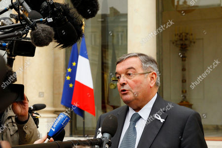 Michel Mercier France's Justice Minister Michel Mercier speaks with journalists as he leaves the Elysee Palace after the weekly cabinet meeting in Paris