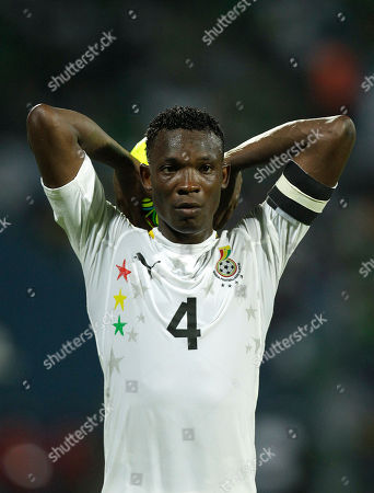 Ghana's John Pantsil during their African Cup of Nations Group D soccer match at the Stade de Franceville in Franceville, Gabon