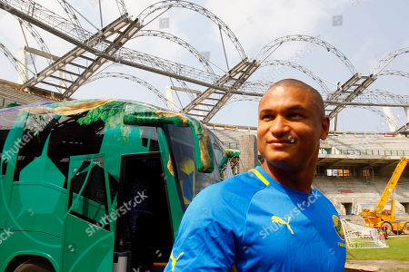 Daniel Cousin Gabon player Daniel Cousin arrives at the Omnisport stadium for a training session ahead of their African Cup of Nations quarter final match against Mali in Libreville, Gabon
