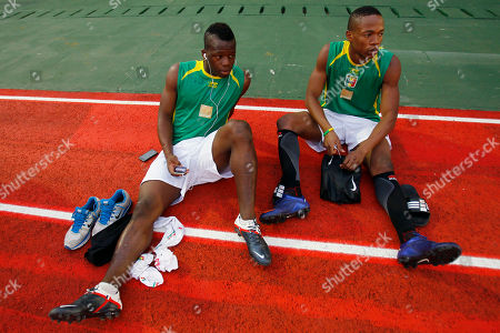 Stock Picture of Idrissa Coulibaly, Youssouf Abdoulaye Maiga Mali's Idrissa Coulibaly, left, and Youssouf Abdoulaye Maiga attend a training session during preparations for their African Cup of Nations semi final soccer match against Ivory Coast at INJS stadium in Libreville, Gabon
