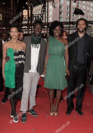Anisia Uzeyman, Saul Williams, Aissa Maigaon, Alain Gomis Actors Anisia Uzeyman, Saul Williams, Aissa Maigaon and director Alain Gomis arrive on the red carpet for the film Aujourd'hui (Tey) during the 62 edition of International Film Festival Berlinale, in Berlin