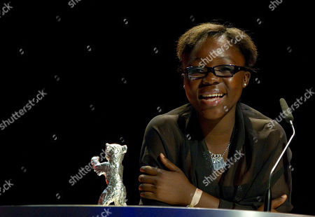 Rachel Mwanza Actress Rachel Mwanza receives the Silver Bear for the Best Actress during the Awarding Ceremony at the 62 edition of International Film Festival Berlinale, in Berlin