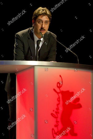 Miguel Gomes Portuguese director Miguel Gomes speaks after being awarded with the Alfred Bauer Prize during the Awarding Ceremony at the 62 edition of International Film Festival Berlinale, in Berlin