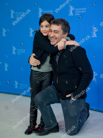 Antonio Chavarrias, Magica Perez Actress Magica Perez, left, and director Antonio Chavarrias, right, pose during the photo call of the film Dictado (Childish Games) at the 62 edition of the Berlinale, International Film Festival in Berlin