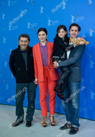 Antonio Chavarrias, Barbara Lennie, Magica Perez, Juan Diego Botto Director Antonio Chavarrias, actresses Barbara Lennie, Magica Perez and actor Juan Diego Botto, from left, pose during the photo call of the film Dictado (Childish Games) at the 62 edition of the Berlinale, International Film Festival in Berlin