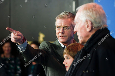 Stephen Daldry, Thomas Horn, Max von Sydow From left director Stephen Daldry, actors Thomas Horn and Max von Sydow pose at the photo call for the film Extremely Loud and Incredibly Close during the 62 edition of International Film Festival Berlinale, in Berlin