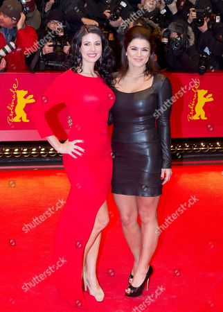 Natascha Berg, Gina Carano From left actresses Gina Carano and Natascha Berg, arrive for the screening of the film Haywire at the 62 edition of International Film Festival Berlinale, Berlin