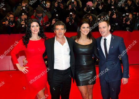 Antonio Banderas, Natascha Berg, Gina Carano, Michael Fassbender From left actress Natascha Berg, actor Antonio Banderas, actress Gina Carano and actor Michael Fassbender, arrive for the screening of the film Haywire at the 62 edition of International Film Festival Berlinale, Berlin
