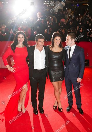 Antonio Banderas, Natascha Berg, Gina Carano, Michael Fassbender From left actors Natascha Berg, Antonio Banderas, Gina Carano and Michael Fassbender, arrive for the screening of the film Haywire at the 62 edition of International Film Festival Berlinale, Berlin