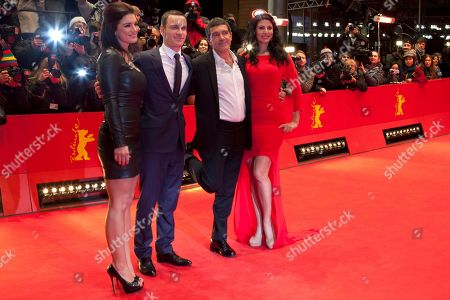 Gina Carano Michael Fassbender, Antonio Banderas, Natascha Berg From left actors Gina Carano, Michael Fassbender, Antonio Banderas and Natascha Berg, arrive for the screening of the film Haywire at the 62 edition of the Berlinale, International Film Festival, Berlin