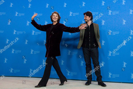 Charlotte Rampling, Barnaby Southcombe Actress Charlotte Rampling, left, and director Barnaby Southcombe pose for the photo call of the film I, Anna at the 62 edition of the Berlinale, International Film Festival in Berlin