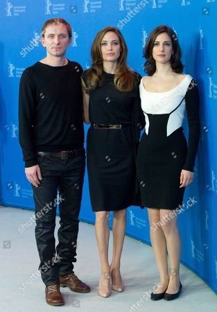 Angelina Jolie, Goran Kostic, Zana Marjanovic US actress and director Angelina Jolie, center, Bosnian actor Goran Kostic, left, and Bosnian actress Zana Marjanovic, right, pose for the photo call of the film In the Land of Blood and Honey at the 62 edition of the Berlinale, International Film Festival in Berlin