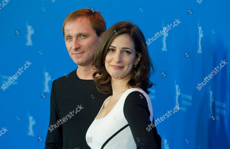 Goran Kostic, Zana Marjanovic Bosnian actor Goran Kostic, left, and Bosnian actress Zana Marjanovic, right, pose for the photo call of the film In the Land of Blood and Honey at the 62 edition of the Berlinale, International Film Festival in Berlin