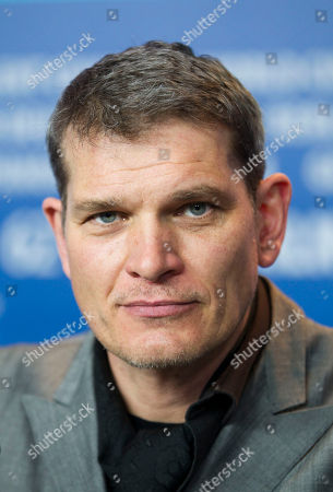 """Goetz Otto German actor Goetz Otto during the press conference of the film """"Iron Sky"""" at the 62 edition of the Berlinale, International Film Festival in Berlin"""