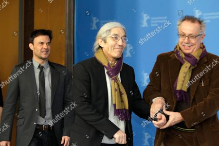 Dieter Kosslick, Francois Ozon, Boualem Sansal Members of the Jury from left, Francois Ozon, Boualem Sansal and Dieter Kosslick, festival director, arrive to the jury photo call for the 62 edition of International Film Festival Berlinale, in Berlin