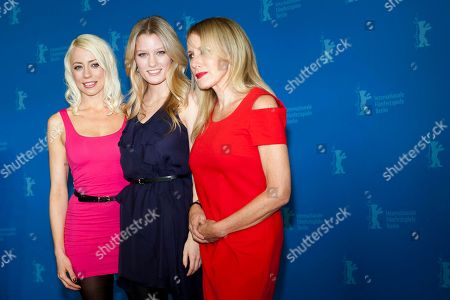 Elana Krausz, Lorelei Lee, Ashley Hinshaw From left actress and script writer Lorelei Lee, actress Ashley Hinshaw and actress Elana Krausz, pose for the photo call of the film Cherry at the 62 edition of the Berlinale, International Film Festival in Berlin