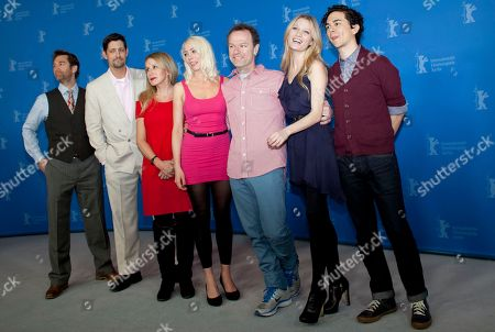 Christo Dimassis, Peter Kepler, Elana Krausz, Lorelei Lee, Stephen Elliott, Ashley Hinshaw, Vincent Palo From left actors Christo Dimassis, Peter Kepler, Elana Krausz, actress and script writer Lorelei Lee, director Stephen Elliott, actors Ashley Hinshaw and Vincent Palo, pose for the photo call of the film Cherry at the 62 edition of the Berlinale, International Film Festival in Berlin