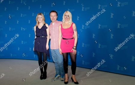 Lorelei Lee, Stephen Elliott, Ashley Hinshaw From left actress Ashley Hinshaw, director Stephen Elliott, and actress and script writer Lorelei Lee, pose for the photo call of the film Cherry at the 62 edition of the Berlinale, International Film Festival in Berlin