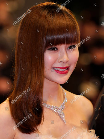 Guan Yue Actress Guan Yue arrives for the screening of the film The Flowers Of War (Jin Ling Shi San Chai) at the 62 edition of the Berlinale, International Film Festival in Berlin
