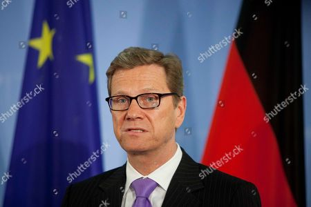 Guido Westerwelle German Foreign Minister Guido Westerwelle briefs media after a meeting with his counterpart from Slovakia Mikulas Dzurinda, unseen, at the foreign ministry in Berlin