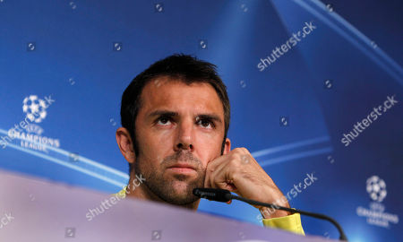 Carlos Marchena Villarreal's defender Carlos Marchena listens to journalists questions during a news conference in Munich, southern Germany, . Bayern Munich and Villarreal will play each other on Tuesday in a Champions League Group A soccer match
