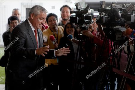 Otto Perez Molina Guatemala's President-elect Otto Perez Molina, left, speaks to media members after meeting Under Secretary of State for Democracy and Global Affairs Maria Otero, not in picture, in Guatemala City
