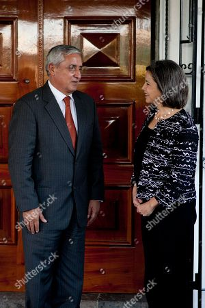 Maria Otero, Otto Perez Molina Under Secretary of State for Democracy and Global Affairs Maria Otero, right, and Guatemala's President-elect Otto Perez Molina speak after a meeting in Guatemala City, . Otero is on a two-day visit to Guatemala