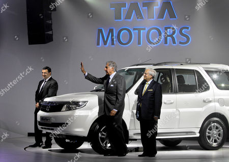 Stock Picture of Ratan Tata, Cyrus Mistry, Ravi kant Tata Sons Chairman Ratan Tata, center, deputy chairman Cyrus Mistry, left, and Tata Motors Vice Chairman Ravi kant pose near the all new Tata Safari during a press preview at the India Auto Expo, in New Delhi, India, . The five day long automobile event begins Saturday