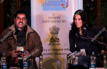 Iftikhar Gilani, Fatima Bhutto Kashmiri writer Iftikhar Gilani, left, talks as Afghanistan-born writer Fatima Bhutto based in Pakistan looks on during a session on Writing and Resistance, at the Jaipur Literature Festival, in the western Indian state of Rajasthan, India