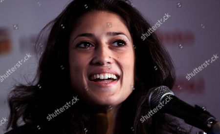 Fatima Bhutto Afghanistan-born writer Fatima Bhutto based in Pakistan reacts during a session on Writing and Resistance, at the Jaipur Literature Festival, in the western Indian state of Rajasthan, India