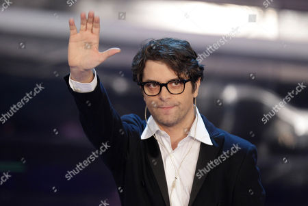 Stock Image of Italian singer Samuele Bersani performs during the 62nd edition of the Sanremo Song Festival, in Sanremo, Italy