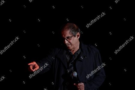 Talian singer Adriano Celentano performs during the 62nd edition of the Sanremo Song Festival, in Sanremo, Italy