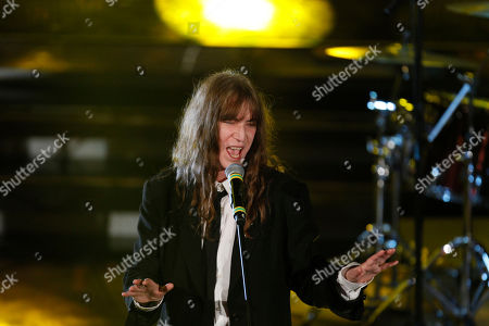 U.S. singer Patty Smith performs during the 62nd edition of the Sanremo Song Festival, in Sanremo, Italy