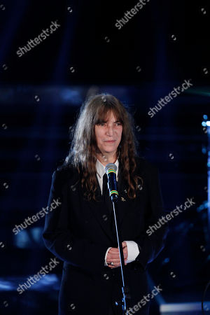US rock singer Patty Smith performs during the 62nd edition of the Sanremo Song Festival, in Sanremo, Italy