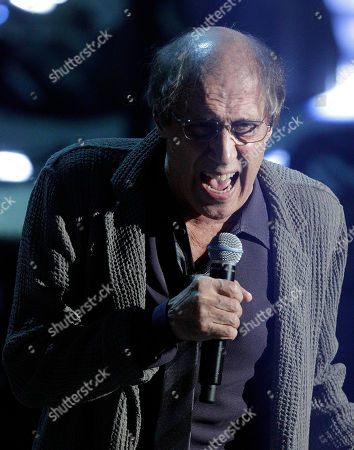 Stock Photo of Italian singer Adriano Celentano performs during the 62nd edition of the Sanremo Song Festival, in Sanremo, Italy
