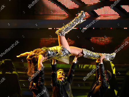 Ivana Mrazova Czech Republic model Ivana Mrazova performs during the 62nd edition of the Sanremo Song Festival, in Sanremo, Italy
