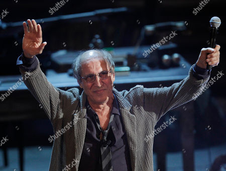 Italian singer Adriano Celentano performs during the 62nd edition of the Sanremo Song Festival, in Sanremo, Italy